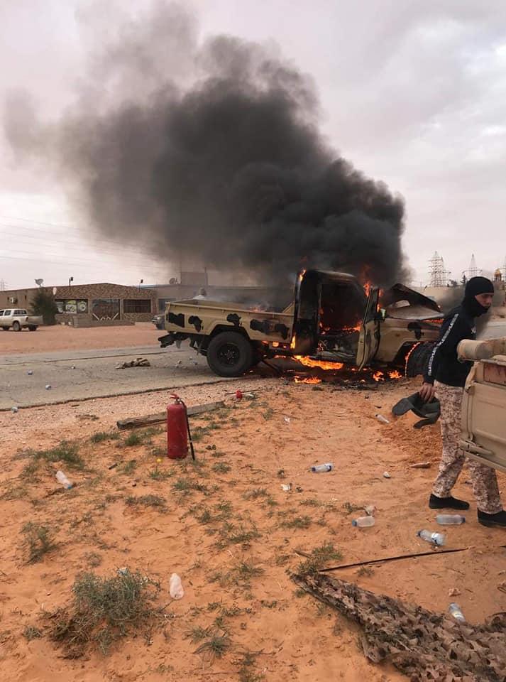 Les forces du gouvernement libyen reconnu par l'ONU s'emparent de la ville stratégique de Abougrène. © Libya Al Ahrar TV