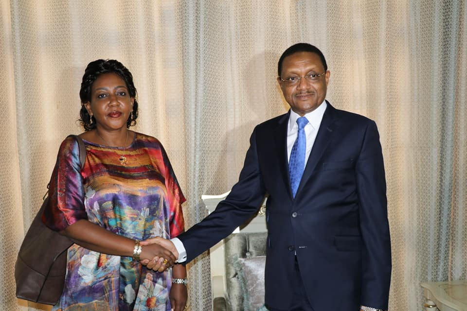 Tchad : Violette Kakyomya reçue par le ministre des Affaires étrangères. © DR/Tchad Diplomatie