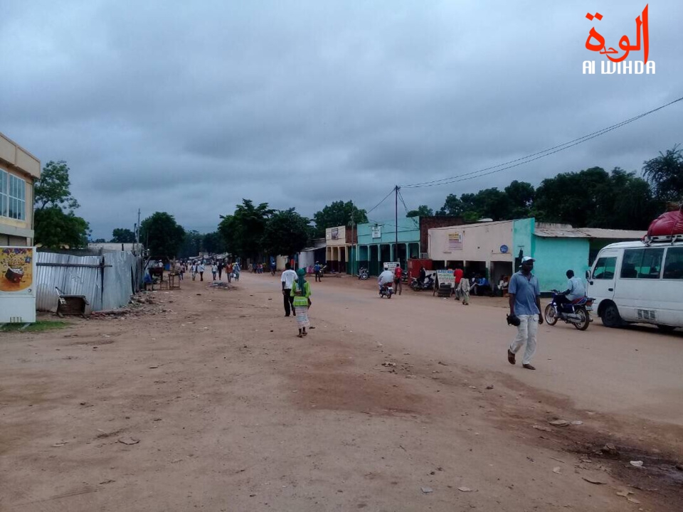 Le centre ville de Moundou. Illustration. © Alwihda Info