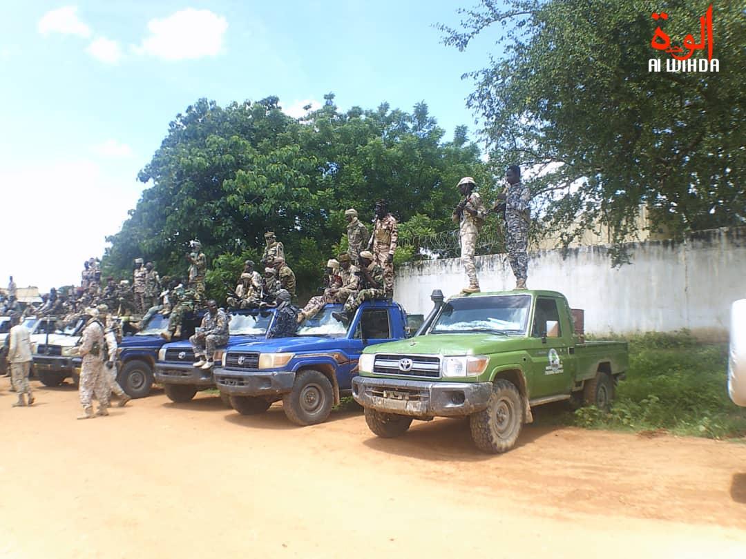 Des véhicules de la force mixte à Goz Beida, dans la province de Sila, lors de l'état d'urgence. Illustration. © Mahamat Issa Gadaya/Alwihda Info