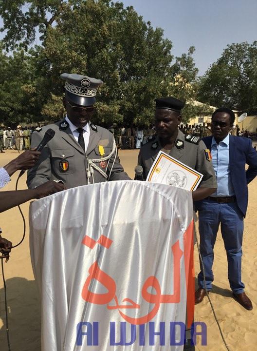 Le directeur sortant de la Police nationale, contrôleur général de police Hissein Doudoua. © Djimet Wiche/Alwihda Info