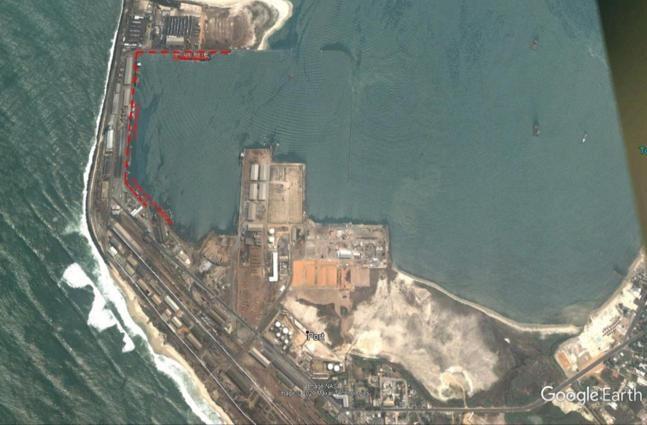 Une vue aérienne du port autonome de Pointe-Noire
