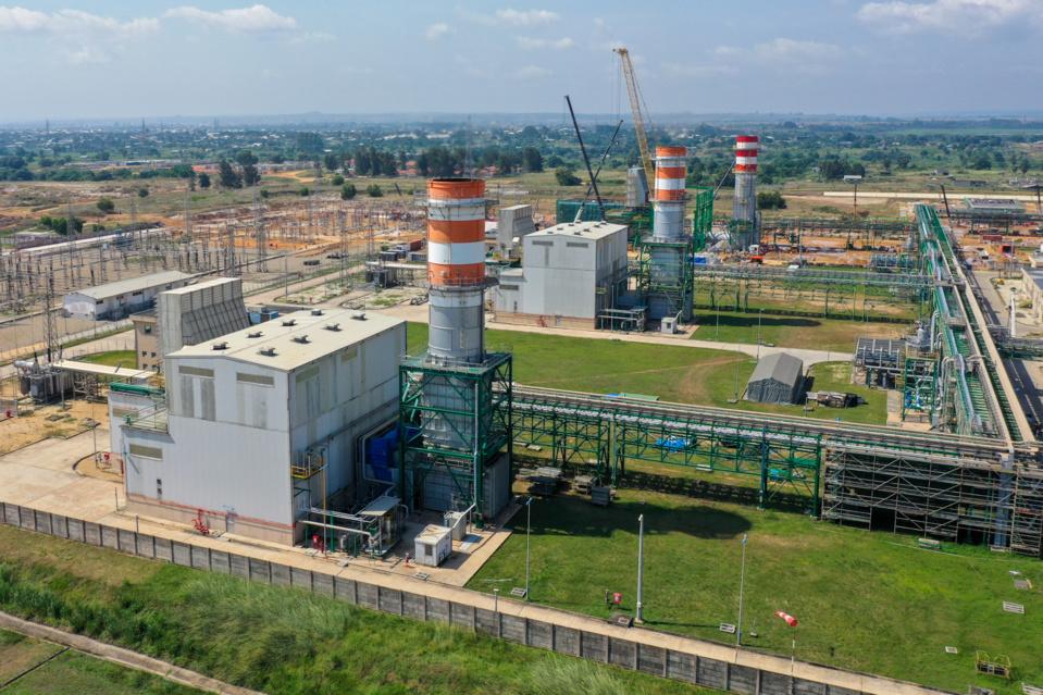 Une vue de la 3 ème turbine à gaz.
