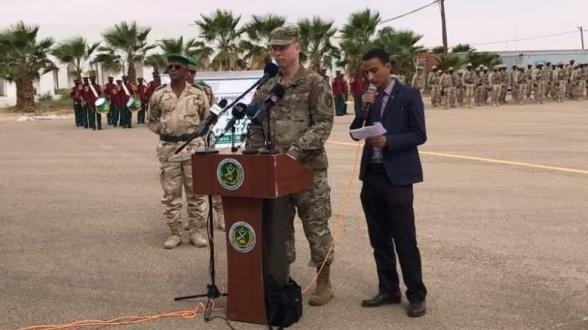 """Le général Henderson Dagvine, commandant des forces spéciales US en Afrique, lors du lancement de """"Fintlock 2020"""" en Mauritanie. © DR"""