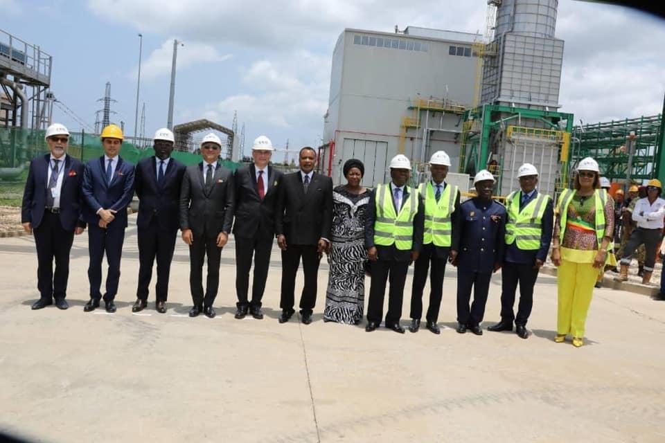Denis Sassou N'Guesso, après la mise en service du 3ème turbine.
