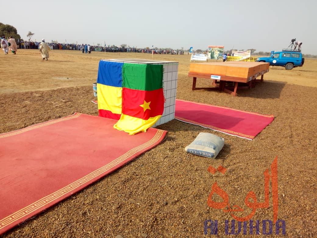 Tchad : la population mobilisée à Bongor pour la visite du président. © Golmen Ali/Alwihda Info