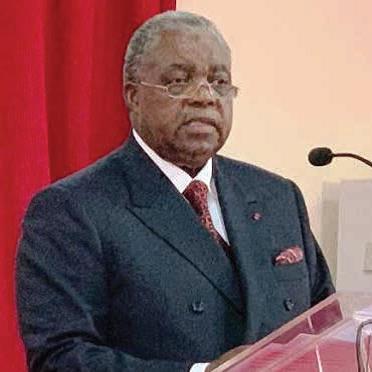 Le ministre de la Communication, René Emmanuel Sadi.
