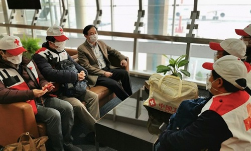 A team of Chinese medical experts arrived in Tehran on Saturday along with a shipment of donations from China to support Iran's anti-epidemic effort. (Photos via Ambassador of China to Iran)