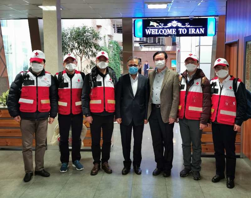 Five experts from the Red Cross Society of China arrived in Teheran, Iran with China-aided medical supplies on Feb. 29 to help the Islamic Republic fight against the novel coronavirus epidemic. (Photo courtesy of the Chinese Embassy in Iran)