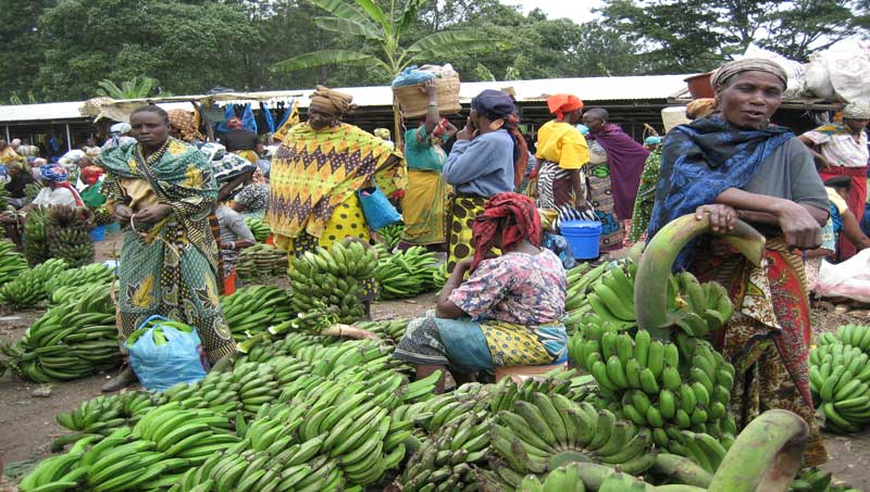 Le grand marché de N'Djamena. © DR