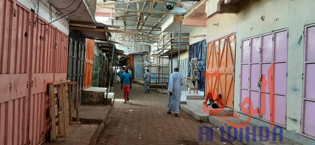Le marché à mil de N'djamena, le 24 mars 2020. © A.I./Alwihda Info