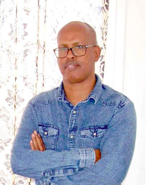 Le président de l'ODDH, l'Observateur Djiboutien pour la promotion de la Démocratie et des Droits Humains, Farah Abdillahi Miguil. © DR