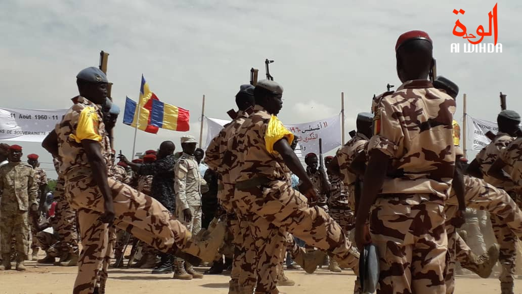 Des soldas tchadiens lors d'un défile. © Alwihda Info