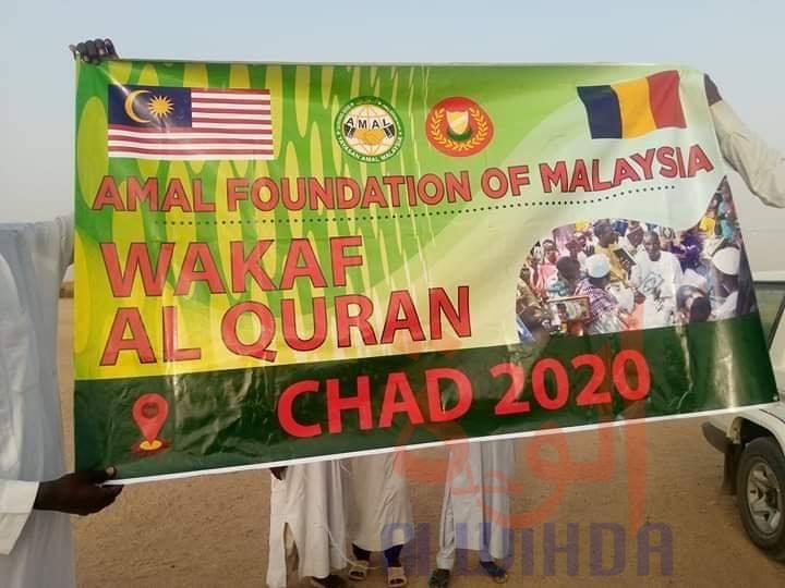 Tchad : une fondation malaisienne offre 400 livres du Coran à l'Est. © DR/OHDSS