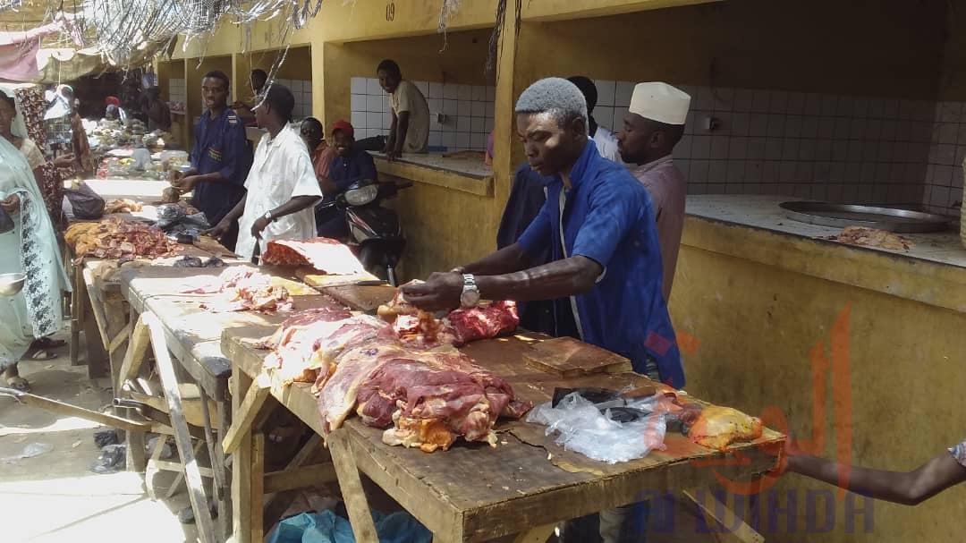 Tchad : commerces non-alimentaires fermés, le marché d'Ati se plie aux mesures. © Hassan Djidda Hassan/Alwihda Info