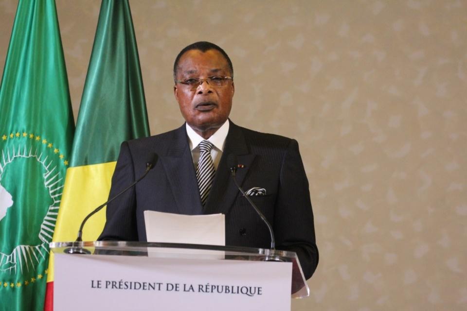 Denis Sassou N'Guesso s'adressant à La Nation.