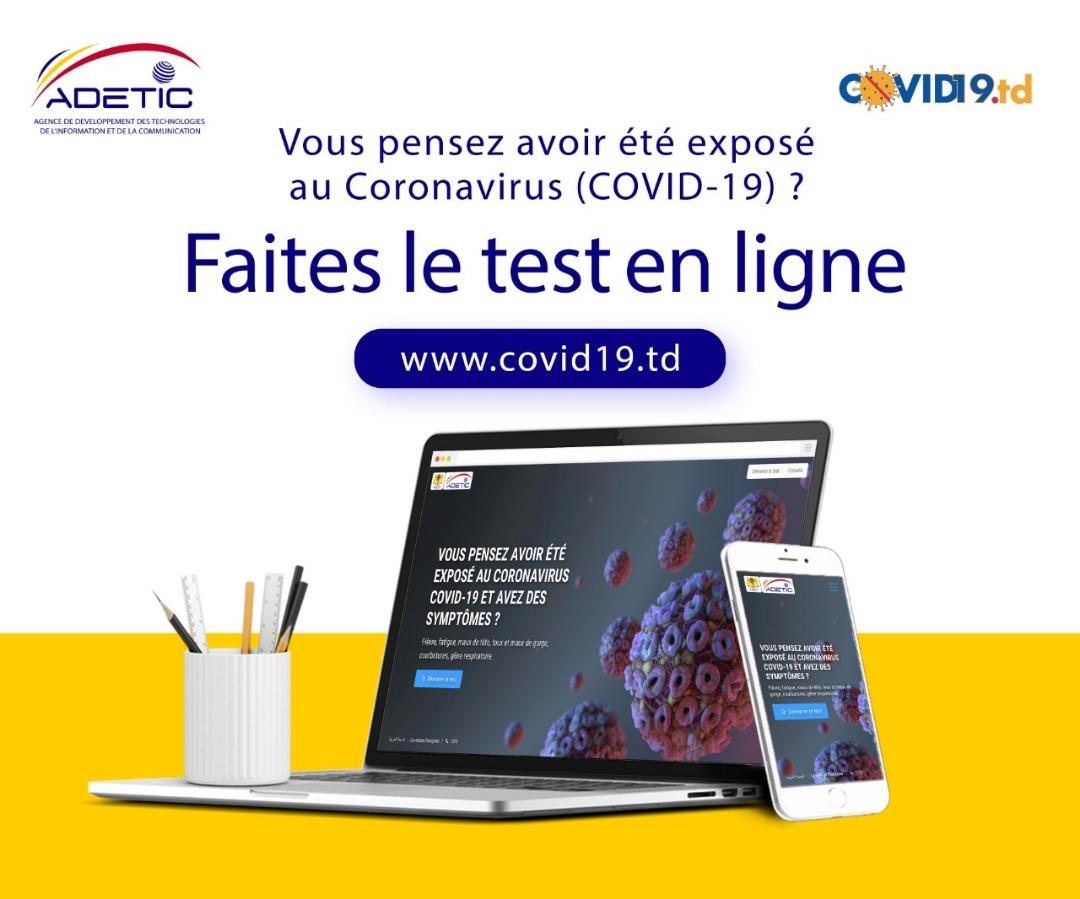 Tchad - Covid-19 : l'ADETIC lance un site de pré-diagnostic. ©ADETIC