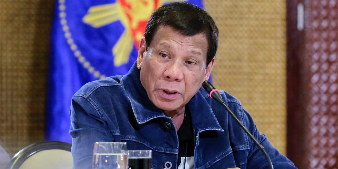 Le président philippin Rodrigo Duterte au palais présidentiel de Malacanang à Manille le 12 mars. Richard Madelo / Division des photographes présidentiels de Malacanang / AP