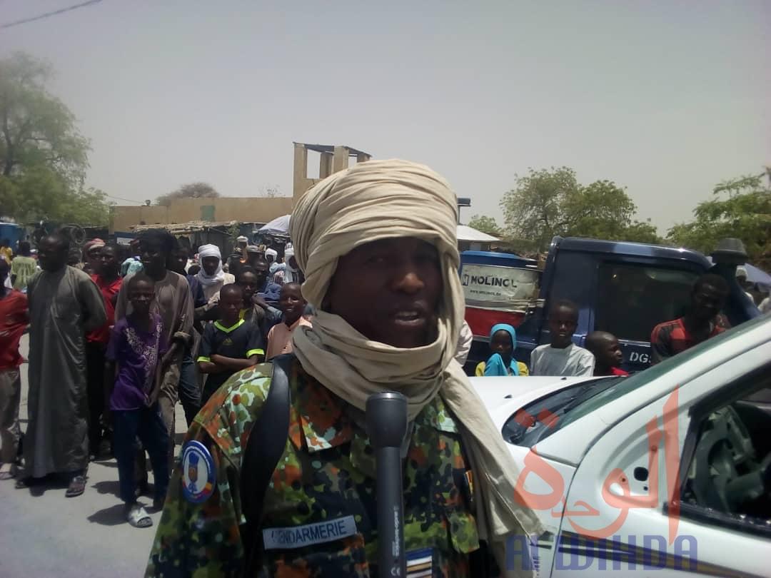 Tchad / Covid-19 : descente du gouverneur de Hadjer Lamis au marché de Massakory