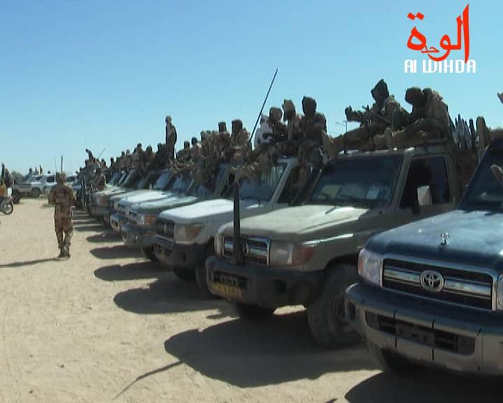Des véhicules militaires de l'armée tchadienne. © Alwihda Info