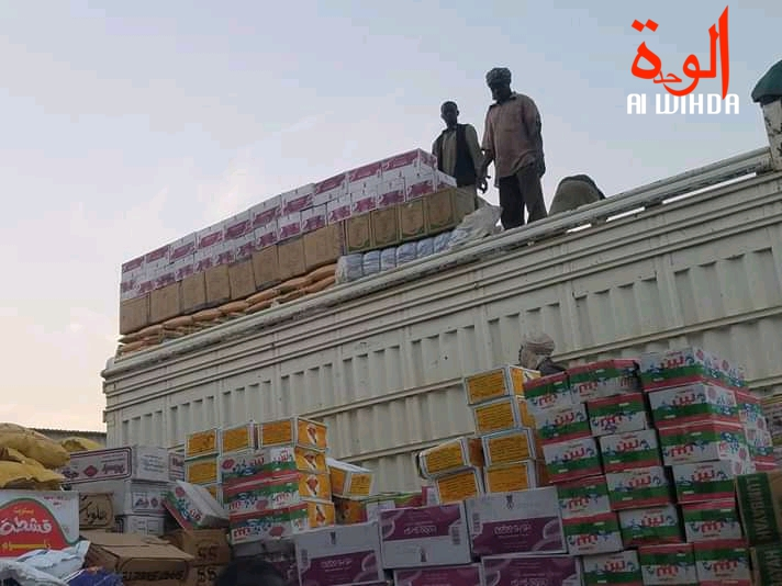 Un conteneur de marchandises à Goz Beida, à l'Est du Tchad. Illustration. © Mahamat Issa Gadaya/Alwihda Info