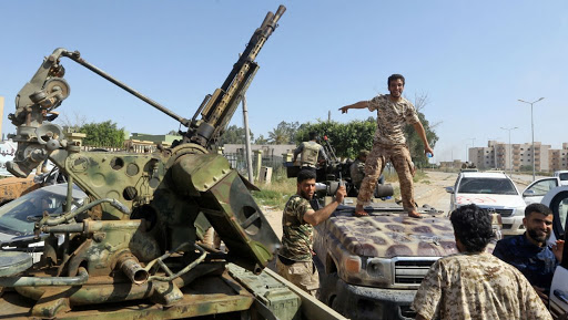 Des hommes armés en Libye. Illustration. © DR