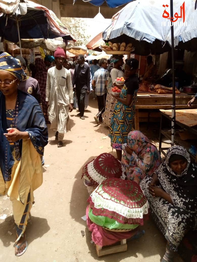Le grand marché de N'Djamena, au Tchad. ©Kelvin Mendig-lembaye Djetoyo/Djibrine Haïdar/Alwihda Info
