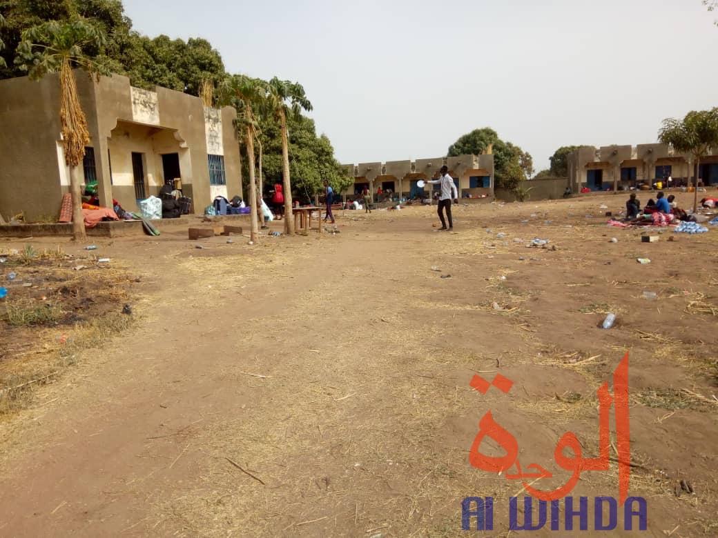 L'école de Koutéré où sont confinés des ressortissants de retour du Cameroun suite au Covid-19. © Golmen Ali/Alwihda Info