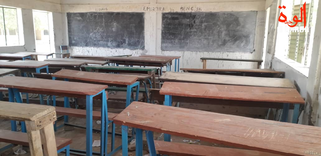 Une salle de classe dans le 7ème arrondissement de N'Djamena. © Djibrine Haïdar/Alwihda Info