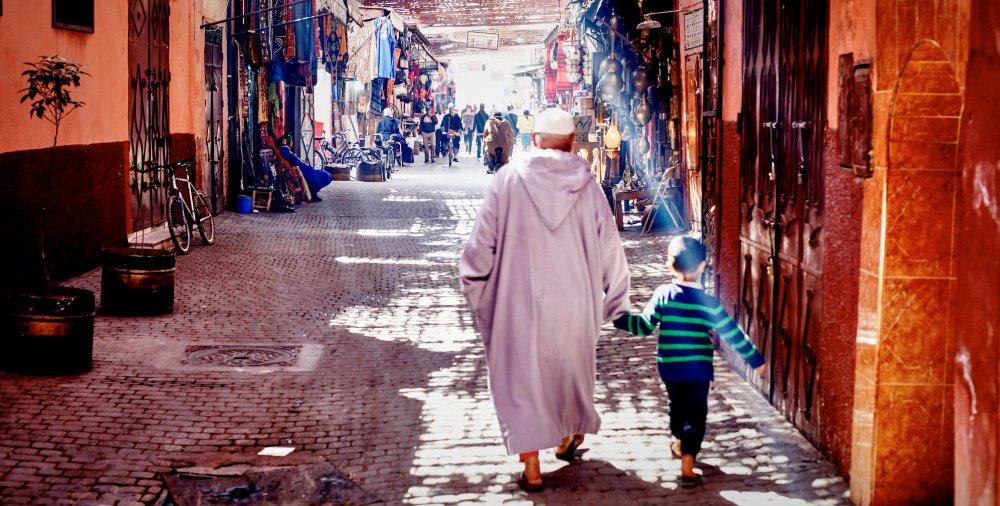 Une rue au Maroc. Illustration. © DR