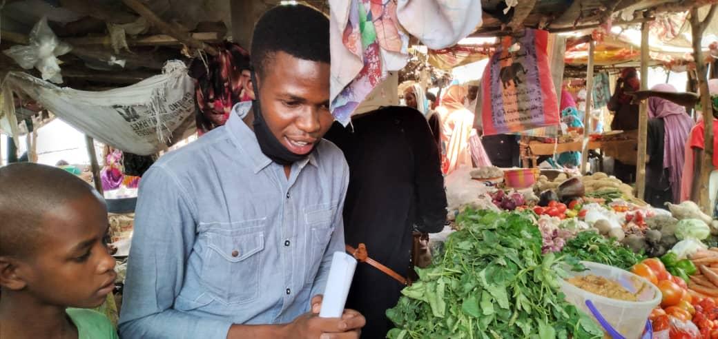 Des jeunes sensibilisent dans les marchés à N'Djamena, le 21 avril 2020. Illustration. © Djibrine Haidar/Alwihda Info