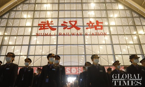 Wuhan railway station reopens 76 days after city lockdown. Photo: Global Times