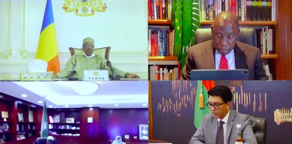 Covid-Organics : le président Malgache présente le remède à ses pairs africains. © DR/Capture d'écran