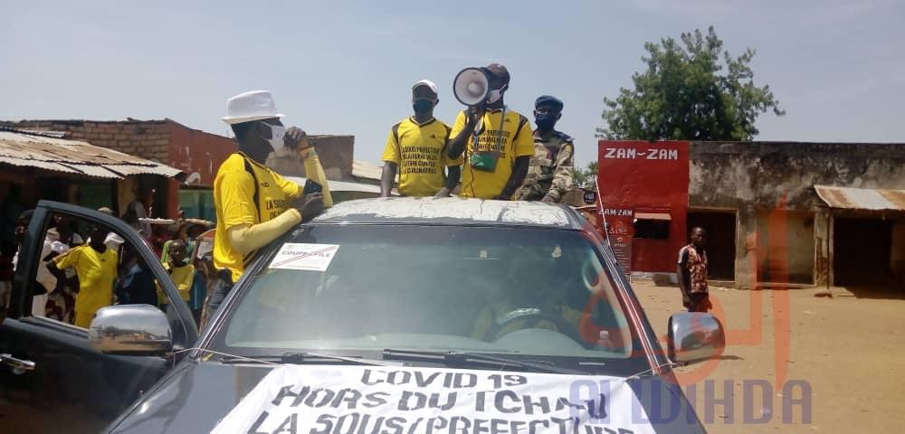 Tchad - Covid19 : à Laï rural, une grande tournée de sensibilisation dans les cantons. © Éric Guedi/Alwihda Info