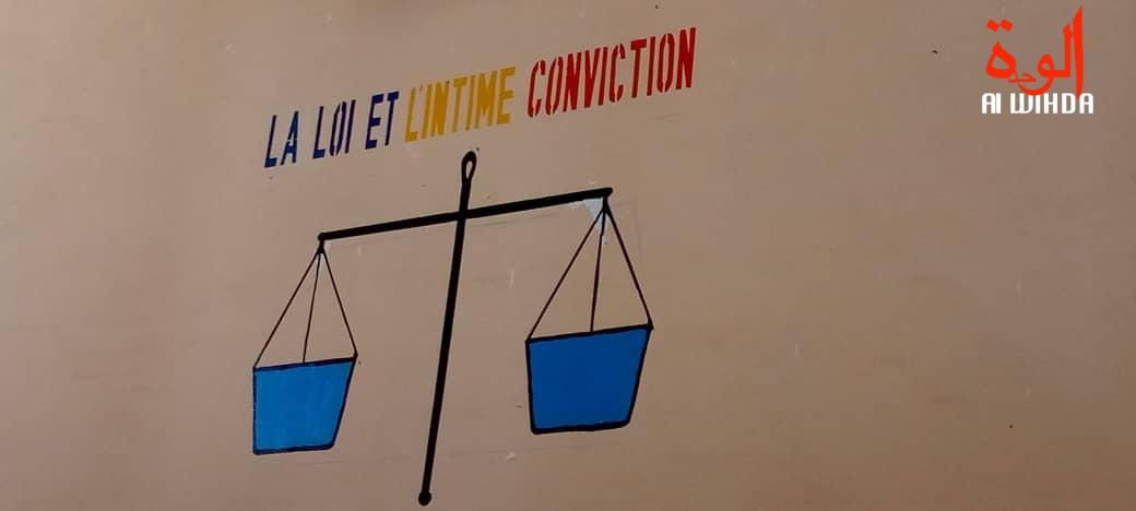 Le sceau de la justice au Tchad. © Hassan Djidda/Alwihda Info