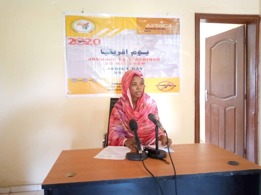 La vice-présidente de l'ECOSOCC-UA, Amalkher Djibrine Souleymane. © Kelvin Djetoyo/Alwihda Info