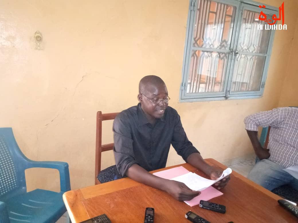Le président du Collectif tchadien contre la vie chère (CTVC), Dingamnayal Nely Versinis. © Kelvin Djetoyo/Alwihda Info