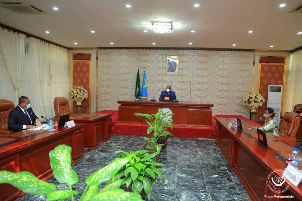 Rencontre entre Jean Claude Gakosso et le président Felix Tshisékédi © Présidence RDC