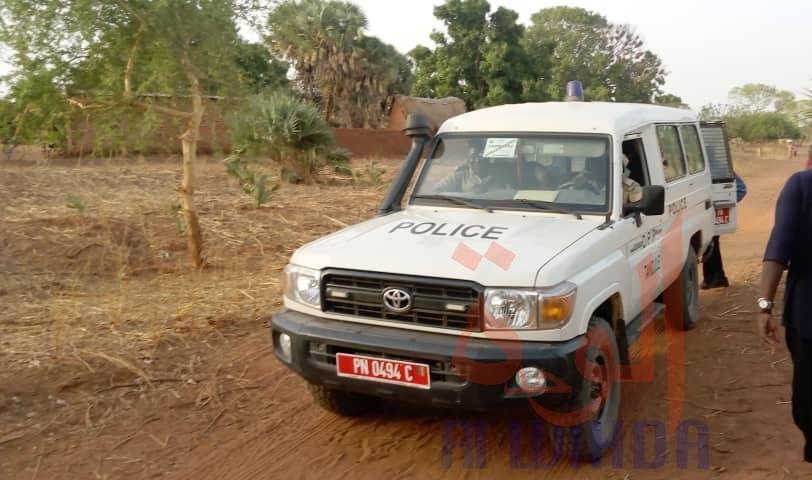 Un véhicule de police dans la Tandjilé Ouest. Illustration © Éric Guedi/Alwihda Info