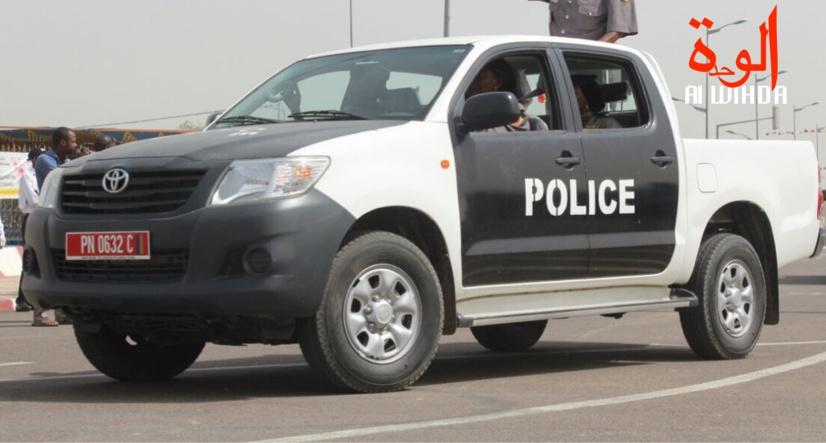 Un véhicule de police à N'Djamena. Illustration © Djimet Wiche/Alwihda Info