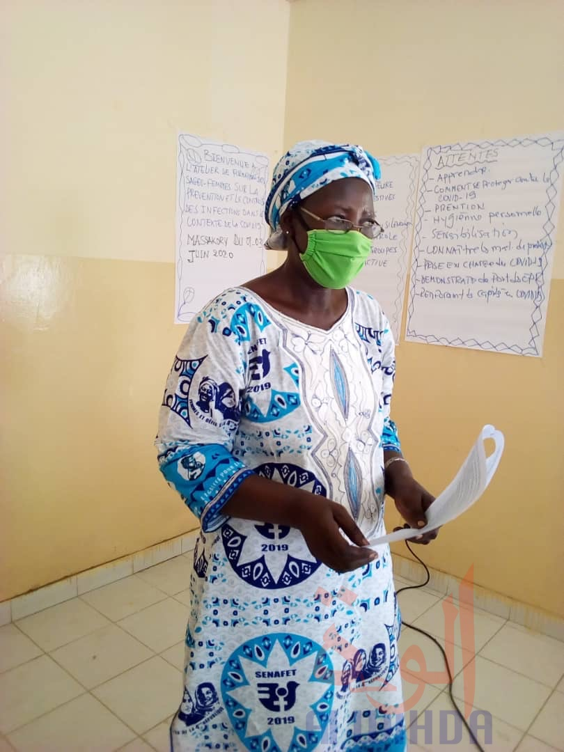 Tchad : prévention et contrôle des infections, les sages-femmes formées au Hadjer Lamis. © Mbainaissem Gédéon Mbeïbadoum/Alwihda Info
