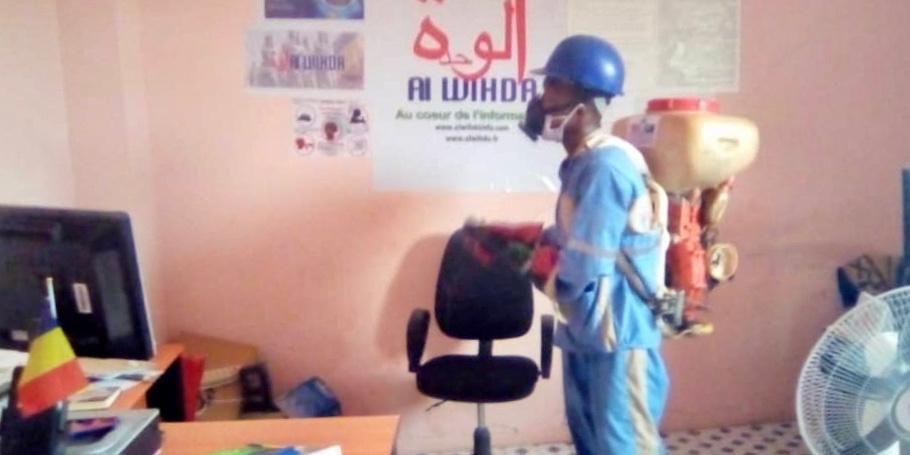 Tchad - Covid-19 : Vitre Clair multiplie ses opérations de désinfection. ©Mahamat Abdramane Ali Kitire/Alwihda Info