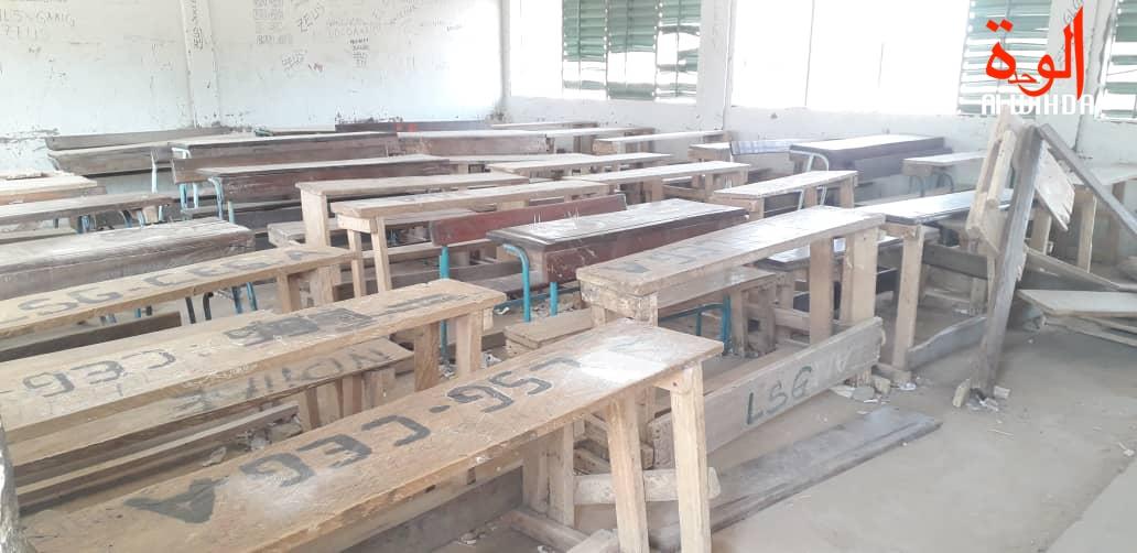 Une salle de classe dans le 7ème arrondissement de N'Djamena. Illustration. © D.H./Alwihda Info