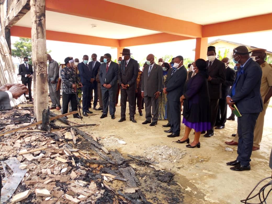 Les autorités découvrent l'ampleur de l'incendie qui a causé des dégâts évalués à près de 200 millions de FCFA.