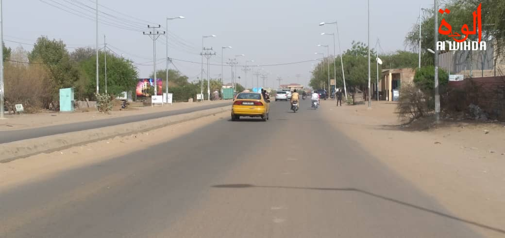 La circulation à N'Djamena. Illustration © Ben Kadabio/Alwihda Info