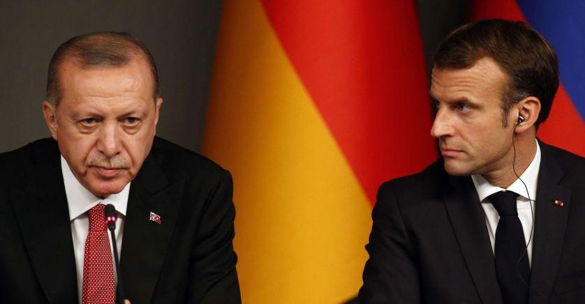 Emmanuel Macron et le président turc Recep Tayyip Erdogan© Christophe Petit Tesson/AP/SIPA