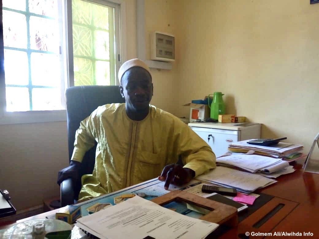 Le directeur administratif et financier de SOLVET Tchad, Dahirou Kiari. © Golmem Ali/Alwihda Info