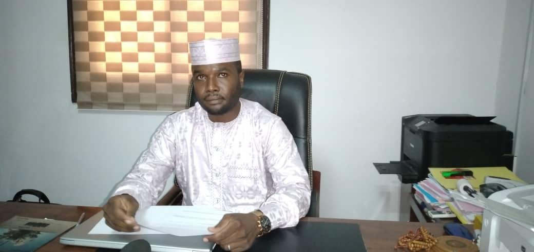 Le coordonnateur du comité des jeunes cadres de la province du Ouaddaï pour le soutien au MPS (COJECPO), Maaouiya Abderahim Bireme Hamid. © Ben Kadabio/Alwihda Info