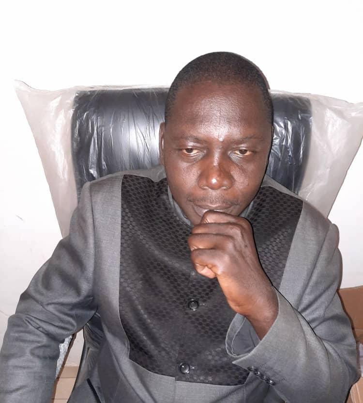 Le vice-président du Bureau exécutif de l'Union des Journalistes Tchadiens (UJT), Abba André Dieudonné.