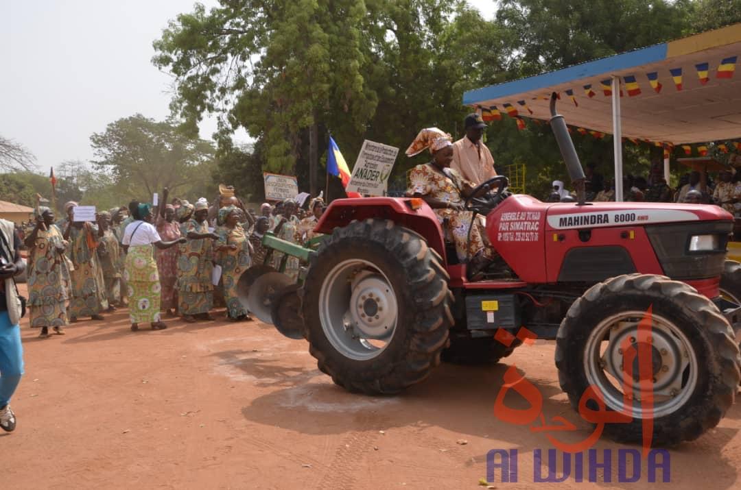 Un tracteur le 8 mars 2020 à Moundou. © Golmen Ali/Alwihda Info
